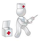 Conceptie van inenting tijdens een epidemie stock illustratie
