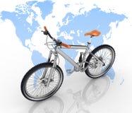 Conceptie van toerisme op een ecologisch vervoer Stock Foto