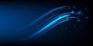 Conception à grande vitesse de mouvement De pointe Fond abstrait de technologie Illustration de vecteur Images libres de droits