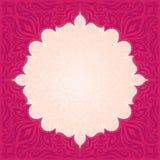 Conception à la mode de mandala de mode de vecteur de modèle de papier peint de fond floral rouge de mandala avec l'espace de cop illustration libre de droits