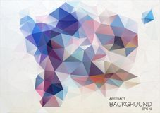 Conception à plat abstraite Fond de triangle illustration libre de droits