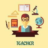 Conception à plat infographic d'éducation Photo libre de droits