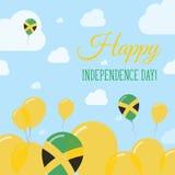 Conception à plat patriotique de Jour de la Déclaration d'Indépendance de la Jamaïque Photo stock