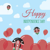 Conception à plat patriotique de Jour de la Déclaration d'Indépendance du Kenya illustration stock