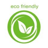 Conception écologique verte de label d'affaires illustration libre de droits