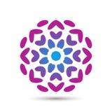 Conception élégante abstraite de vecteur d'icône de logo de fleur Symbole de la meilleure qualité créatif universel Signe gracieu illustration de vecteur