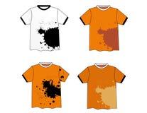 Conception élégante grunge de T-shirt Photographie stock