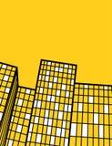 Conception élevée jaune d'insecte de bâtiments Photos libres de droits