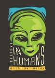 Conception étrangère de T-shirt illustration libre de droits