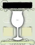 Conception 3 d'affiche et d'aviateur de vin Image stock