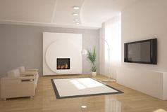 conception 3d intérieure Photo libre de droits