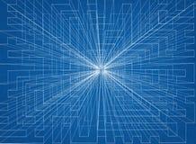 Conception abstraite - architecte Blueprint illustration de vecteur
