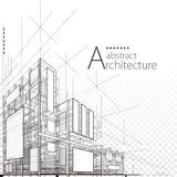 Conception abstraite architecturale illustration de vecteur