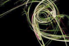 Conception abstraite avec des ondes de feu rose et vert Photographie stock