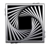 Conception abstraite carrée métallique en noir et blanc Images libres de droits