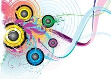 Conception abstraite colorée Image stock