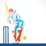 Conception abstraite créative de joueur de cricket par la course de brosse Photos stock