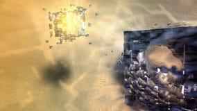 Conception abstraite cubique de fond Images libres de droits