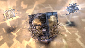 Conception abstraite cubique de fond Photos libres de droits