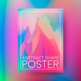 Conception abstraite d'affiche Composition de couverture des formes colorées géométriques Images stock