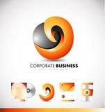 Conception abstraite d'entreprise d'icône de logo illustration libre de droits