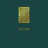 Conception abstraite d'icône de logo de fleur Symbole élégant de fleur Templat Image libre de droits