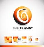 Conception abstraite d'icône de logo de signe de sphère illustration libre de droits