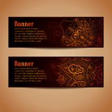 Conception abstraite de bannières de vecteur Bannières réglées avec Photos libres de droits