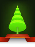 Conception abstraite de cône d'arbre de Noël Photos libres de droits