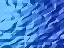 Conception abstraite de calibre de vecteur avec le fond triangulaire géométrique coloré pour la brochure, sites Web, tract Photos libres de droits