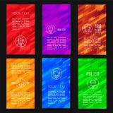 Conception abstraite de calibre de vecteur avec les milieux géométriques colorés illustration stock