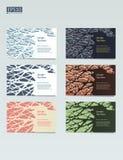 Conception abstraite de calibre de vecteur, brochure, sites Web, page, tract, avec les milieux géométriques colorés Photographie stock libre de droits