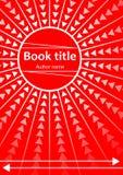 Conception abstraite de calibre pour le livre, le tract, l'insecte, le rapport avec le cercle rouge et les rayons illustration de vecteur
