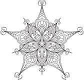 Conception abstraite de dentelle de noir de vecteur dans la ligne style mono - five-fing Images libres de droits