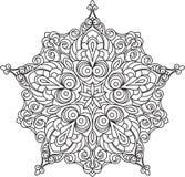 Conception abstraite de dentelle de noir de vecteur dans la ligne style mono - five-fing illustration stock
