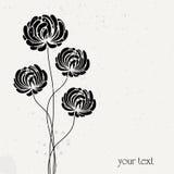 Conception abstraite de fleur illustration de vecteur