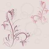 Conception abstraite de fleur Photographie stock