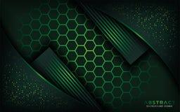 Conception abstraite de fond d'hexagone illustration libre de droits
