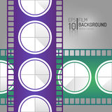 Conception abstraite de fond de cinéma Éléments de vecteur Illustration minimale de film EPS10 Image stock