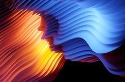 Conception abstraite de fond de forme de vague image stock