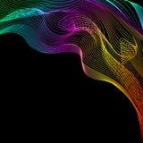Conception abstraite de fond Mouvement de vague coloré sur le fond foncé illustration stock