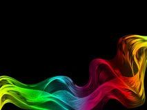 Conception abstraite de fond Mouvement de vague color? sur le fond fonc? illustration de vecteur