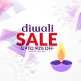 Conception abstraite de fond de vente de diwali avec le diya Images stock