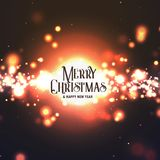 Conception abstraite de Joyeux Noël avec éclater l'effet de la lumière illustration libre de droits