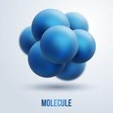 Conception abstraite de molécules Images libres de droits