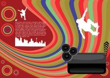 Conception abstraite de planche à roulettes Illustration de Vecteur