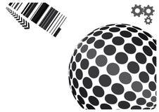 Conception abstraite de vecteur de globe Image libre de droits