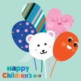 Conception abstraite de vecteur de jour heureux du ` s d'enfants illustration de vecteur