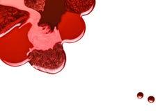 Conception abstraite de vernis à ongles métallique rougeâtre Image libre de droits