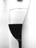 Conception abstraite de verrerie de vin de B&W Image stock